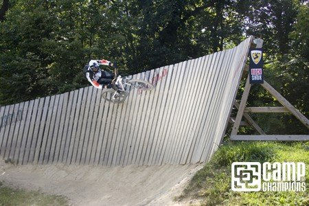 Brent Floyd showing the crew how to ride the wall.