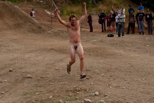 Crankworx's first ever streaker