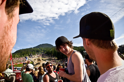 "Danny Hart is one of our favorites and its reactions like this that make it! I think he just realized how gnarly slopestyle is… He's invested. Watch out for Mr. Hart stepping on to the box at the next ""real"" WC course."