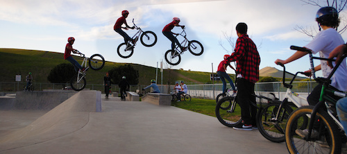 A sequence of Lil paul doing a bar over a fat gap at the Zorg bike co Jam...oh and hes only 13 years old