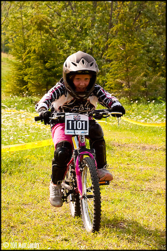 Cheyenne ripping up the kids race and The East Coast Open at Blue Mountain, ON, this summer of 2011