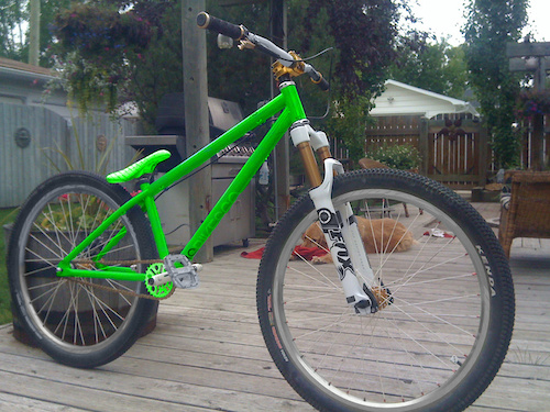 hoss bike green and gun metal grey