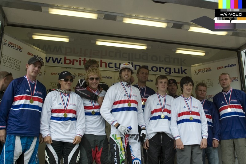 British National Champs 2009 - Note the Masters and Vets wear a blue top.