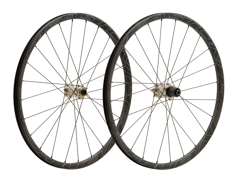 Easton's 1450 gram Haven Carbon wheelset has been designed to be put through the ringer on all-mountain and trail bikes by aggressive riders.<br><br><span style='font-size:17px'>Easton Haven Carbon details:</span><br><br>- Intended use: All-mountain/trail<br>- Uses 375 gram, fully sealed, UST, carbon rims<br>- 24 Sapim straight pull, double butted spokes, 3x front/rear (<i>all the same length</i>)<br>- Axle options to fit QR, 15mm and 20mm forks, QR and either 135 or 142mm thru-axles in the rear<br>- 21mm internal rim width, 26mm external width<br>- 36 point gear ring/3 pawl hub for 12 degrees of freehub engagement<br>- 1450 gram wheelset weight<br>- No questions asked 2 year warranty that covers everything, including rider error<br>- Haven Carbon 29'er wheelset available as well<br>- MSRP $2300 USD