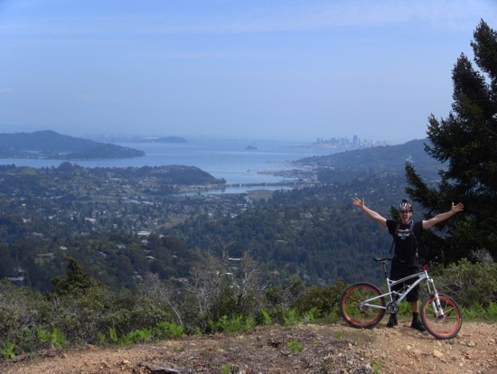 Kyle on his way to the top of Mt. Tam