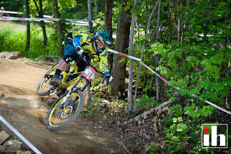 Sick Mick qualified first for DH, and was looking super fast today