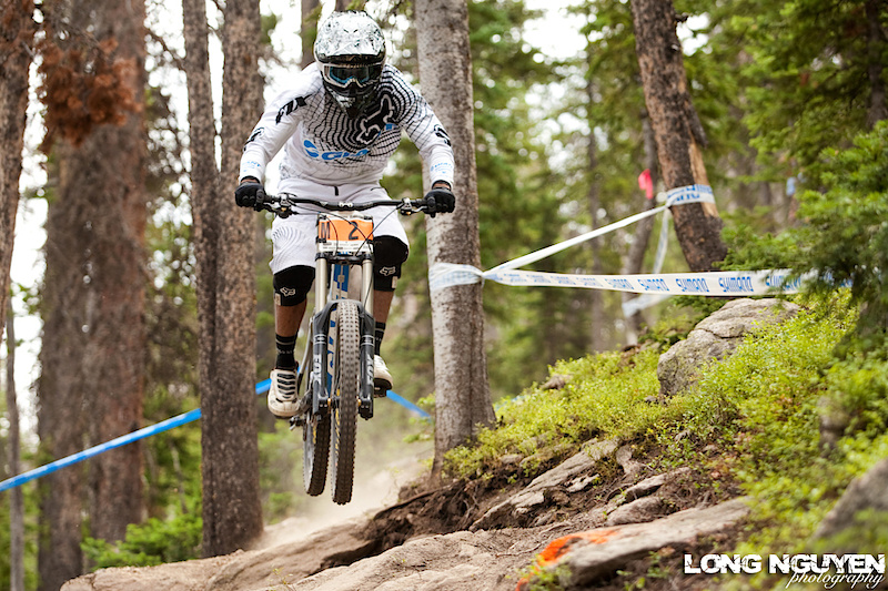 Jared Rando working the rock gardens. 