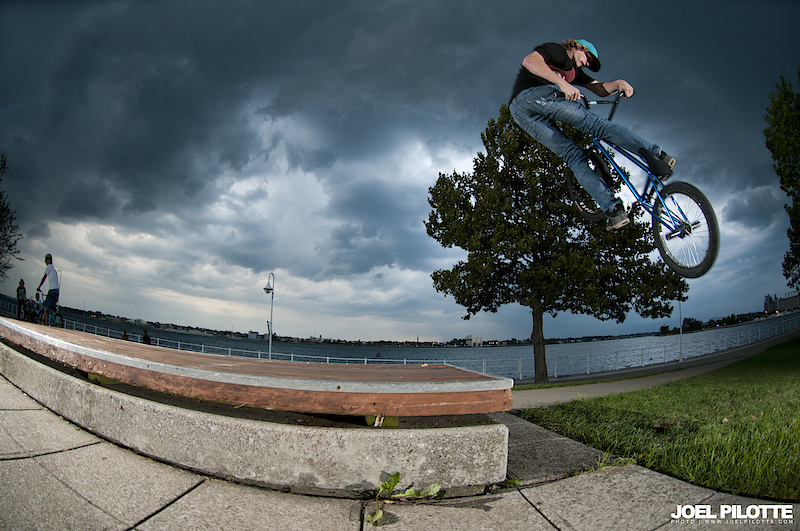 Josh with a banging turndown along the waterfront.