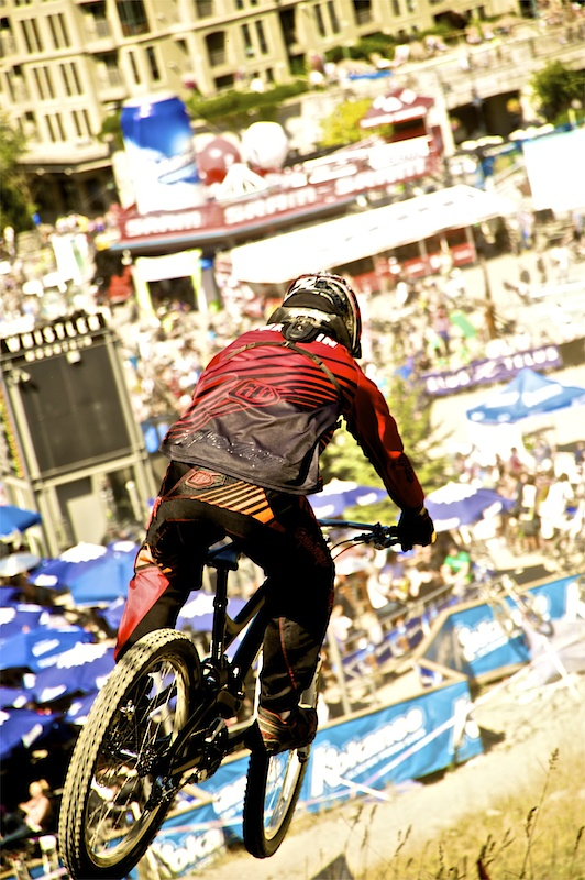 Remi on his way to one of 3 second place finishes at Crankworx 2010.  Image: Clayton Racicot