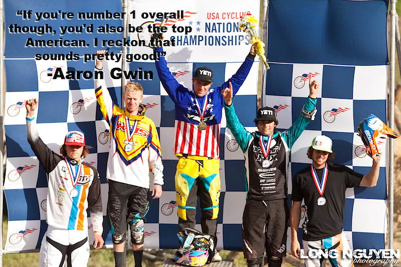 Aaron came into the 2010 National Championships at the Sol Vista Bike Park as the defending champ and he'll be doing the same next year as well, winning on the short and dusty track by a little over three seconds.