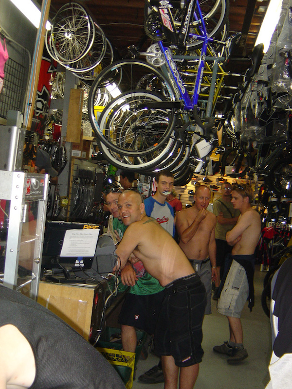 The dark side of working in a bike shop....naked English dudes.