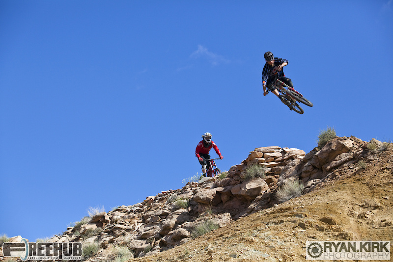 Aaron Braggs and Brandon Watts hitting the Red Carpet in Moab, UT.