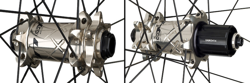 The stunning hubs rotate on ceramic bearings and can be converted to fit virtually every axle standard out there.