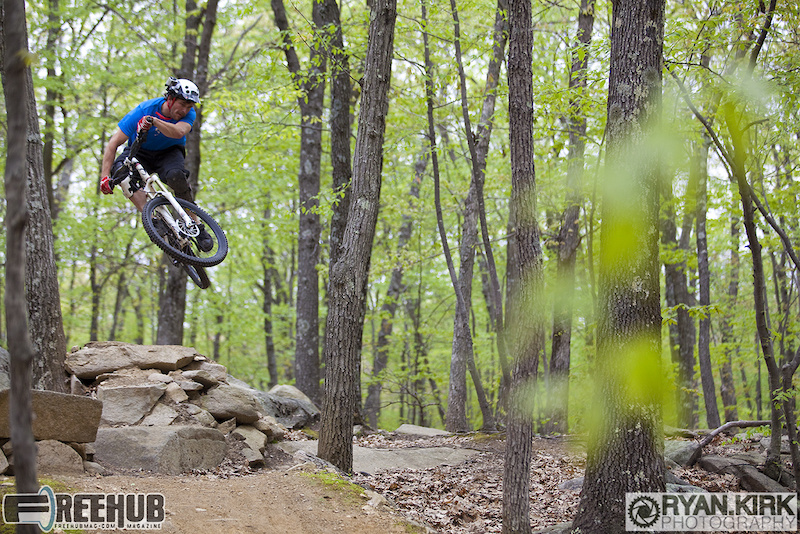Rider Brandon Watts feeling funky at Vietnam in Milford, MA.