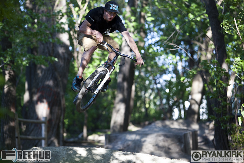 Rider Jon DANGERmeier showing us how it's done at the Garden Dirt Jumps!