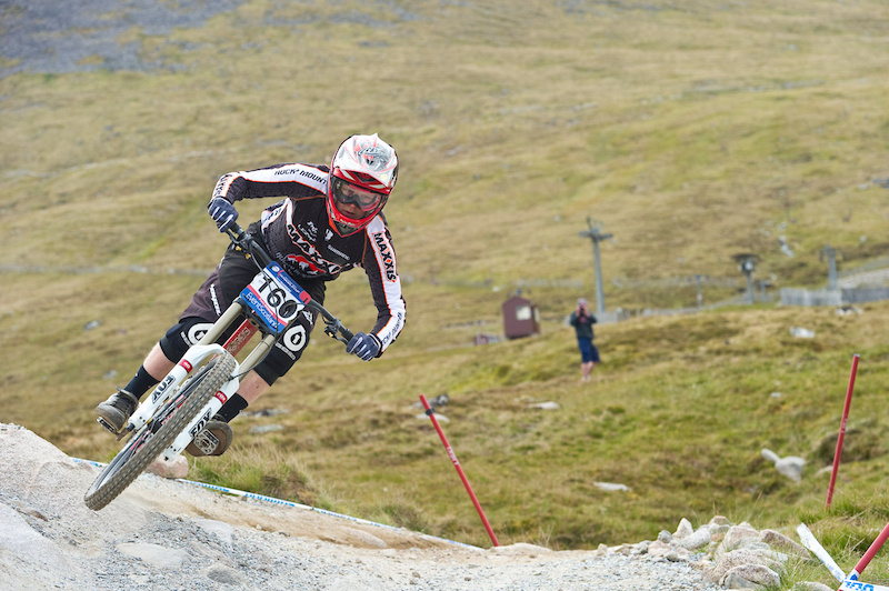 Racing to qualify at the 2011 UCI MTB World Cup DH in Fort William Scotland