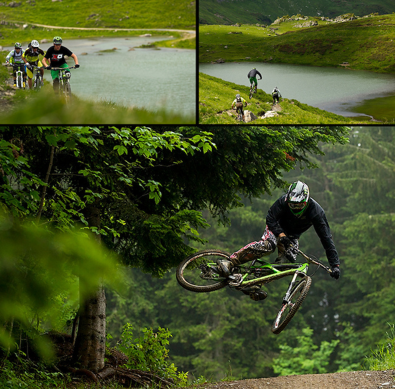 Brendan Fairclough and friends in Les Gets France.