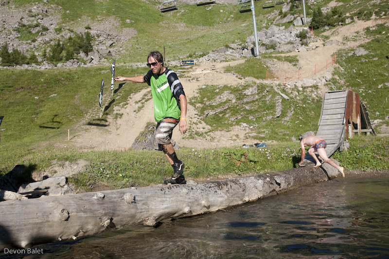 After winning best event spirit Geoff had no choice but to join Sebee jumping into the pond.