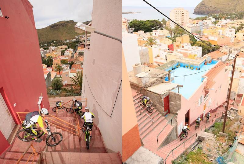 urban trail at La Gomera Trek Gravity Girls D.Geiger