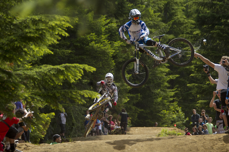 whip contest on crabapple hits whistler bike park during crankworx 2011.