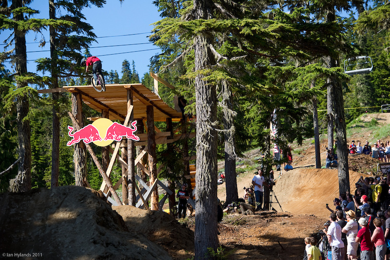 Anthony Messere was the first one to 360 off the drop and consistently hit it smooth on every run.