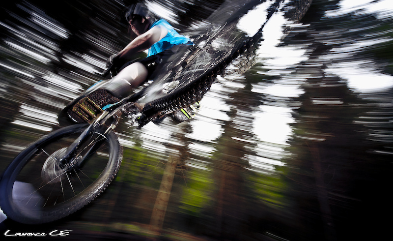 Duane whipping it out on the FR Track at Oneplanet Adventure Llandegla - Laurence CE - www.laurence-ce.com