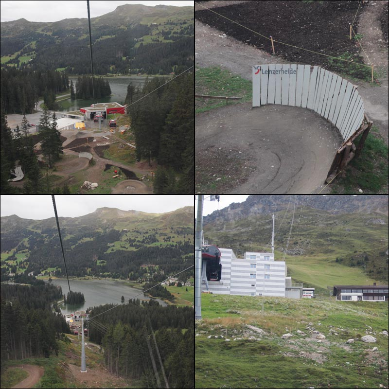 Some structures at the bottom of the Lenzerheide bike-attack route