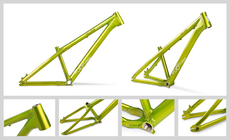Two6Player 2012 - evolution of the world s most popular alu dirt jump frame continues with our custom hydroformed down tube perfectly fitted to the new tapered head tube. This gives a much stronger connection than a standard welded gusset and looks much cleaner. Head tube takes the Blaze or Flash headsets and all forks with 1.1 8 or tapered steerer. New double butted top tube with increased thickness in the head tube area. New custom BB-CS yoke and new chain stay tubes with even more space for the tyre plus increased stiffness. New profiled curved seat stay gusset. First delivery is coming soon 