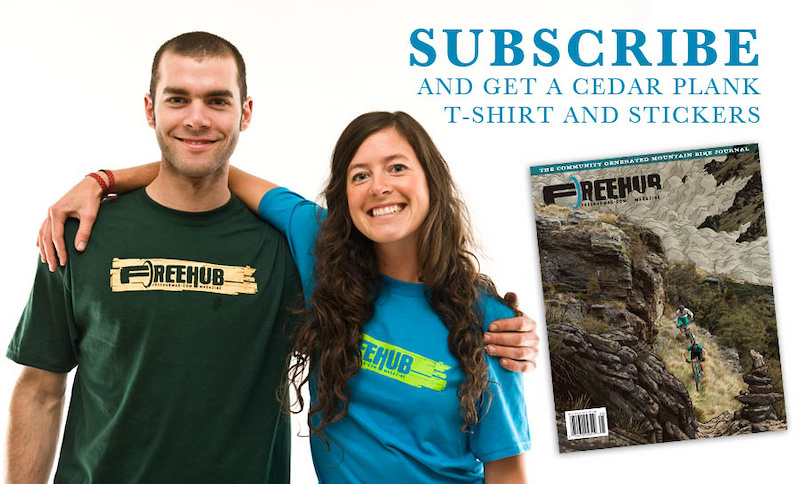 If you subscribe to our premium subscription package, you get a Cedar Plank Logo T-Shirt and Freehub stickers!