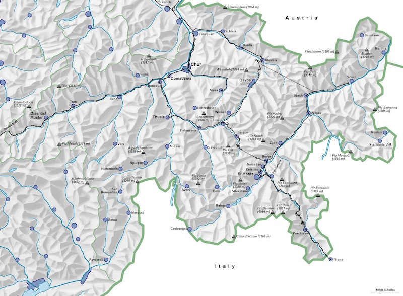 General Map of Graubunden