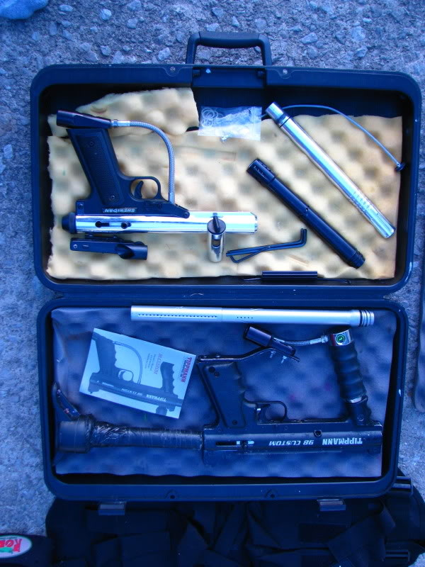 Paintball stuff.