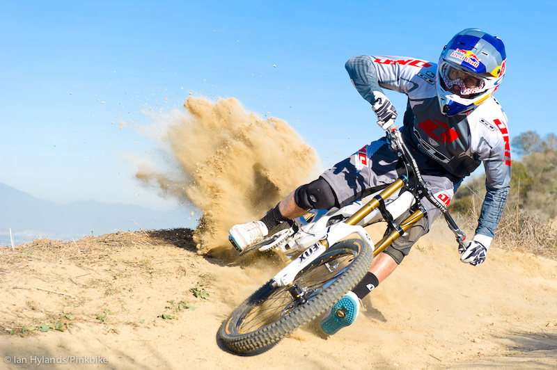 Gee Atherton rides his new GT Fury near Laguna Beach, California