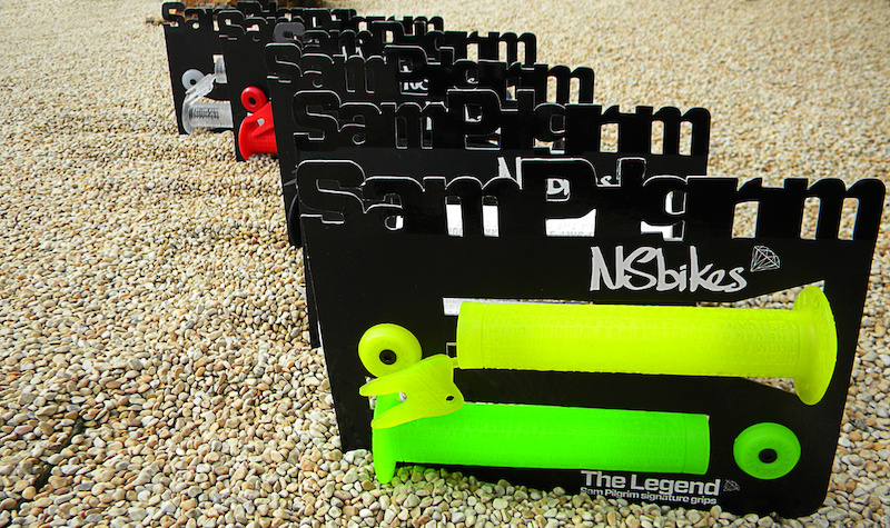 The Legend  Sam Pilgrims signature grips - more info at http://www.nsbikes.com/news/item/521-the-legend-sam-pilgrims-signature-grips.html