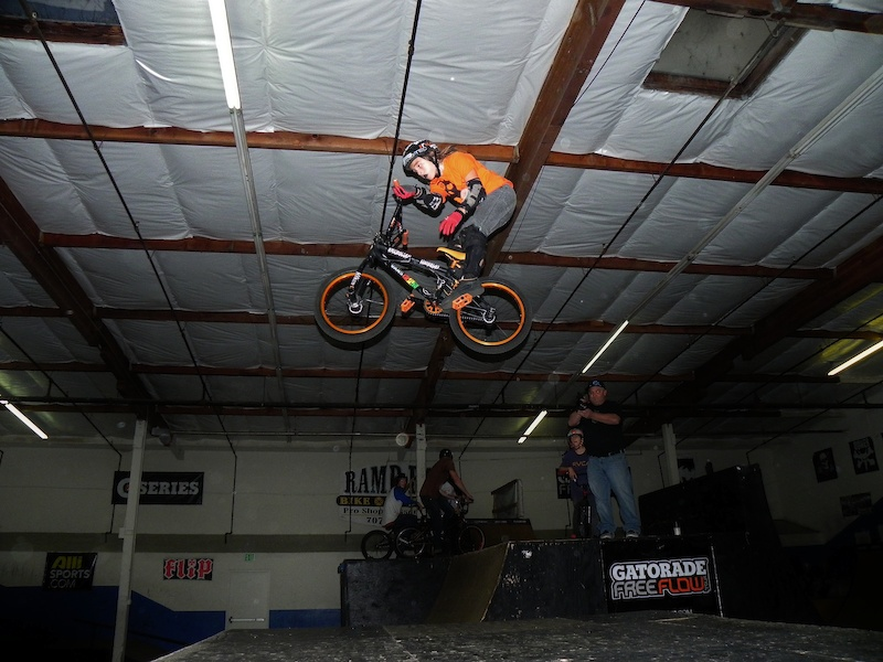 Bryce Tryon getting down with a dialed barspin