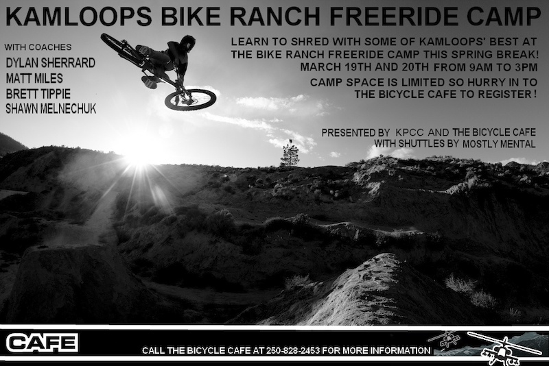 Matt Miles shredding the Ranch for Karl Heldt s camera at the Kamloops Bike Ranch Spring Break Freeride Camp.