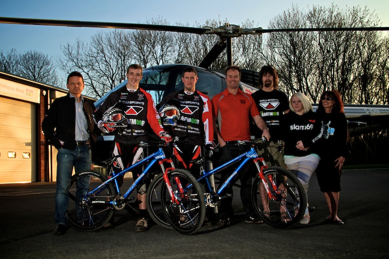 Dartmoor Raw Sports 4X team launch. Steve Grindle Milan of RAW Sports Graham Sheila and Millie of Dartmoor UK slam69 and the guys
