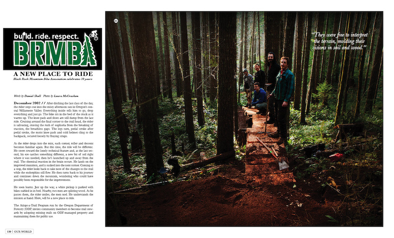 Black Rock Mountain Bike Association is one of the features in 'Our World', a section that is dedicated to the endeavors associated with growing and building our sport.