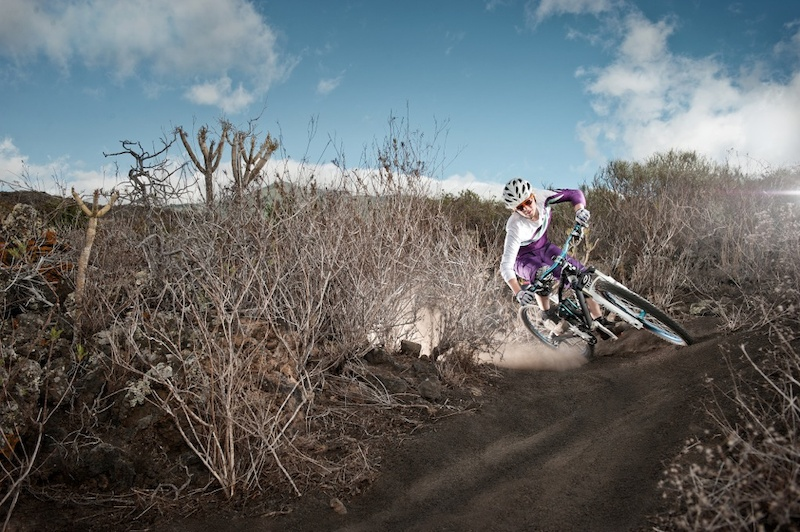 This trail was made by some local bmx kids on La Palma and is perfect for Julias Training