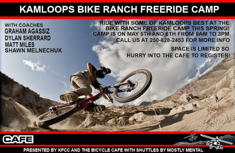 Kamloops Bike Ranch Freeride Camp back again this May 5th and 6th 