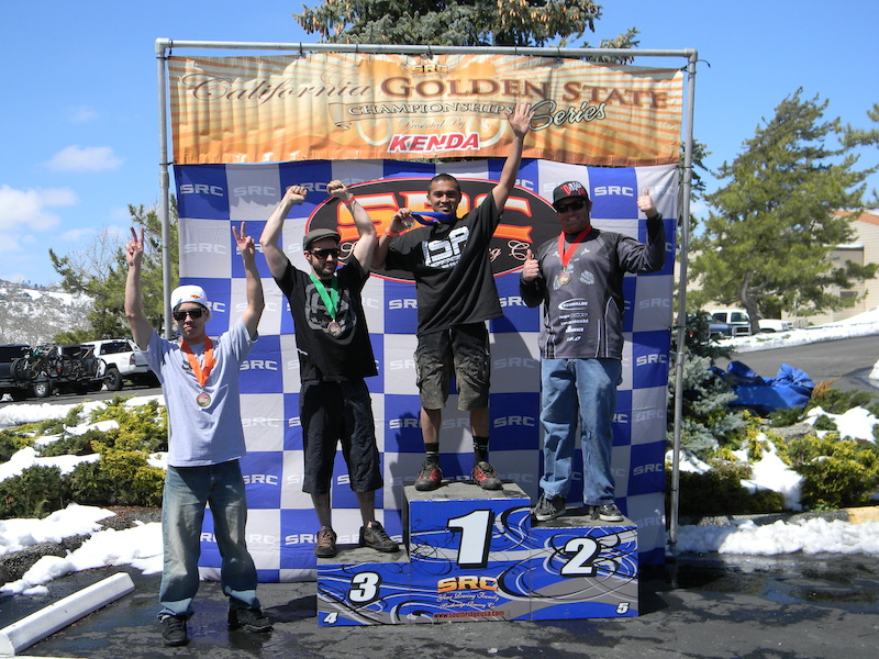 Hard earned 1st place expert men.  2nd round in Kenda cup series.  Snowy/muddy conditions. 4/15/12