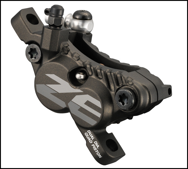 Shimano Zee DH four-piston brake caliper 2013