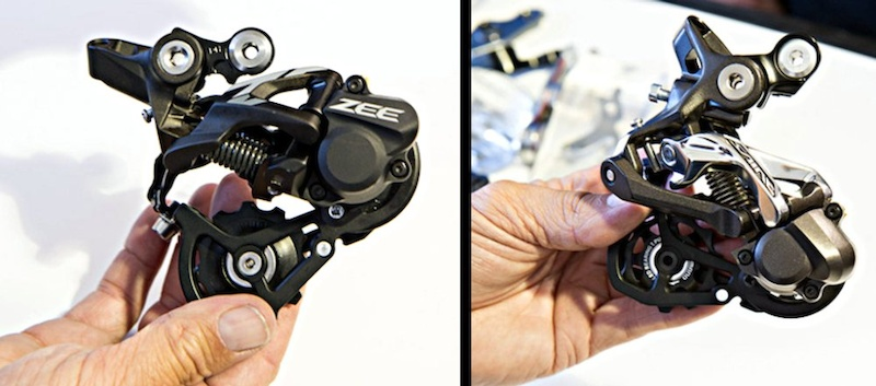 ZEE rear derailleur compared with 2013 Saint