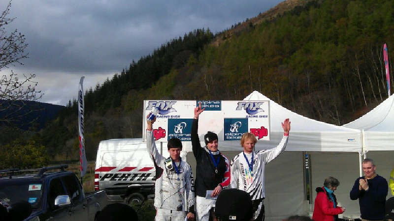 Ruraidh Cunningham takes the win at the first round of the 2012 SDA Series at Innerleithen