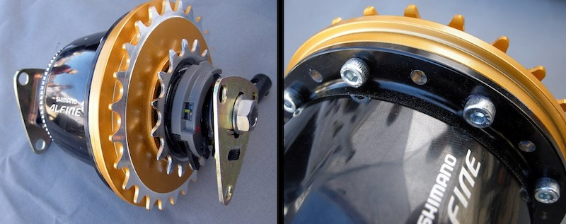 Shimano Alfine 8-speed hub converted by Zerode