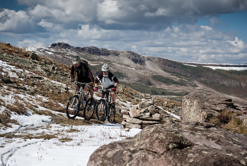 When we finally did get to climb out of Copper Mountain, we hit the snowline in an hour or so. So far so good. Photo by Dan Milner