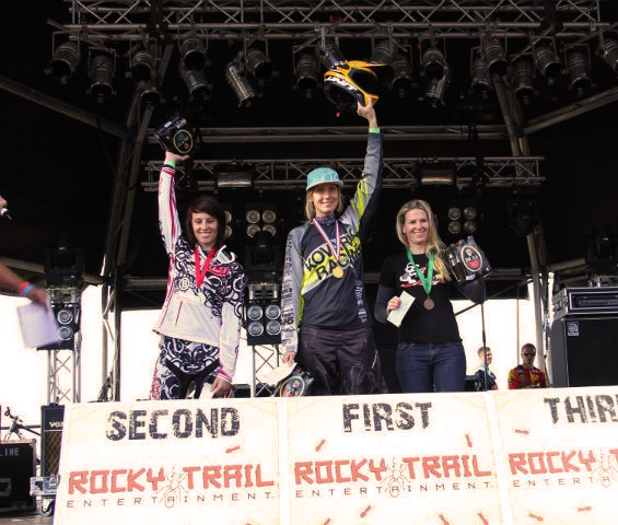 Elite womens podium Newton s Nation DH 2012.