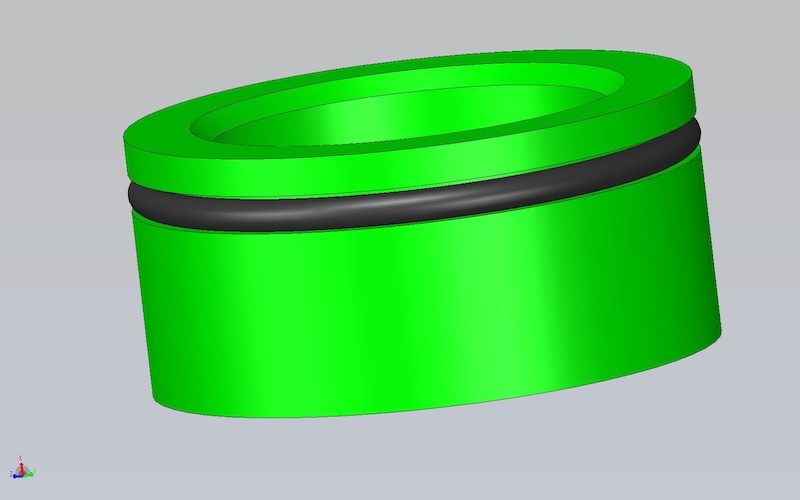 flexible floating piston suspension design