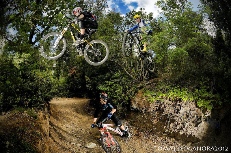 Real Road Gap... Ben and Jay flying above Andrea s head