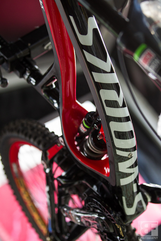 It's finally here. The S-Works Carbon Demo is no longer a myth, or the product of speculation. Here is a quick shot of Sam Hill's before the embargo lifts this evening!