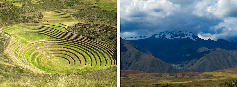 Riding in the Sacred Valley and touring the Moras circles.